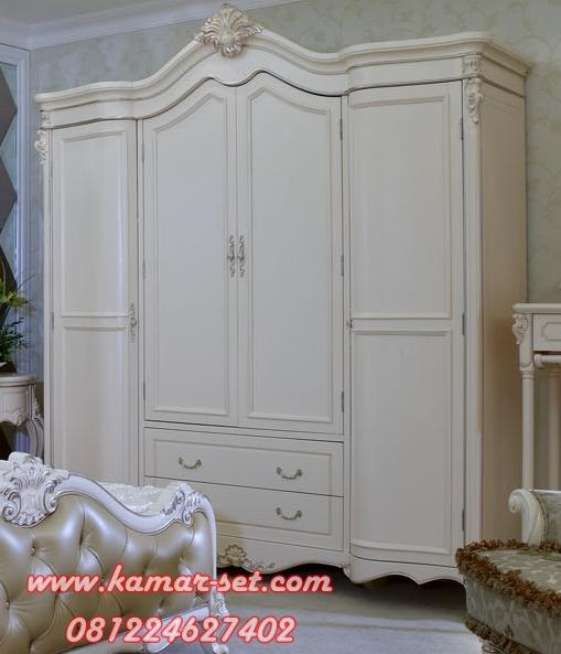 Lemari Pakaian Klasik 4 Pintu Lengkung