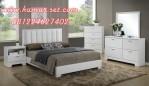 Set Kamar Tidur Minimalis Warna Putih Queen