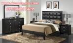 Set Tempat Tidur Minimalis Murah Black Carroline