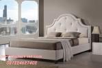 Tempat Tidur Klasik Minimalis Full Jog Putih