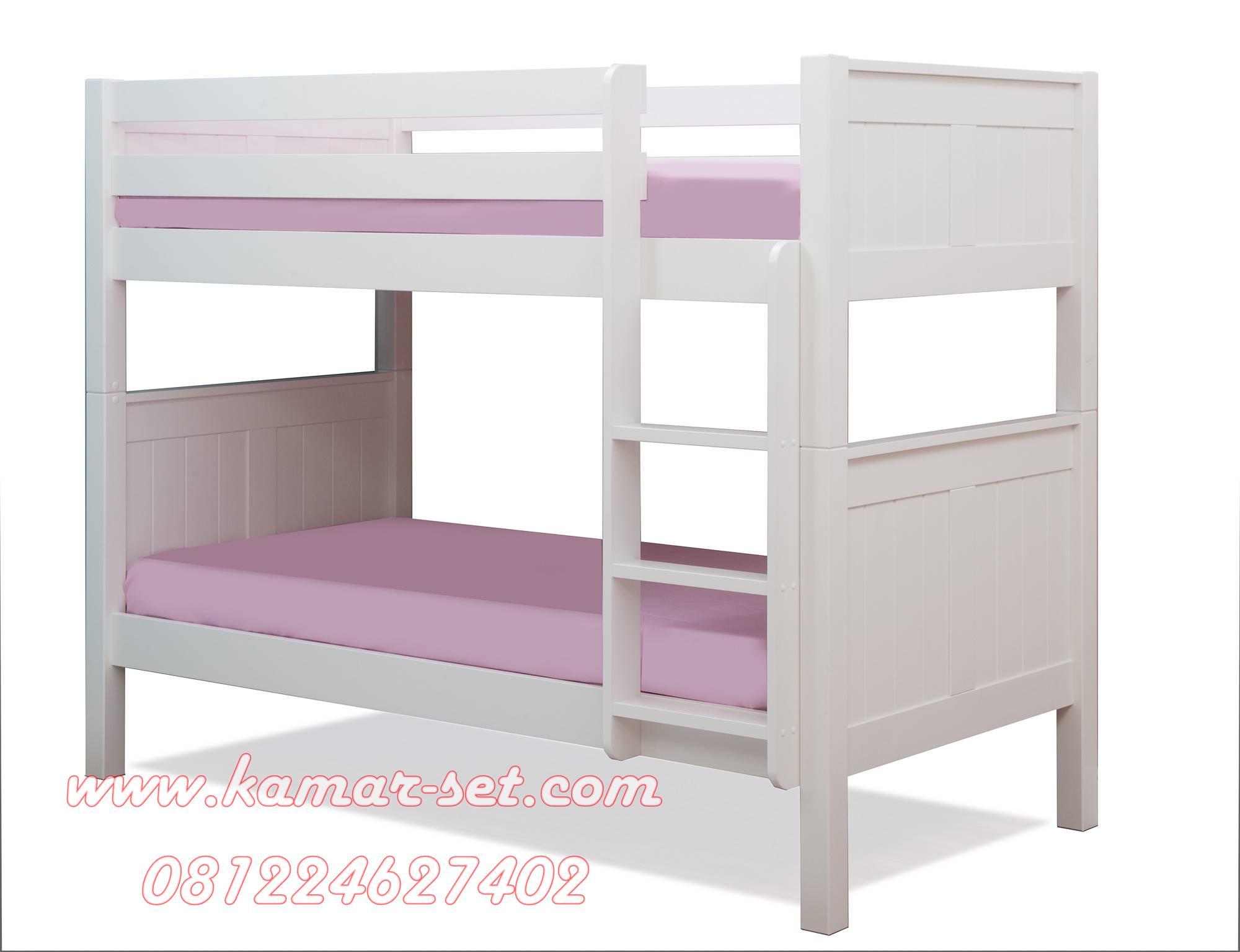 Tempat Tidur Tingkat Asrama Warna Putih