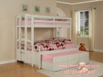 Tempat Tidur Triple Tingkat Sorong Berlaci Elle