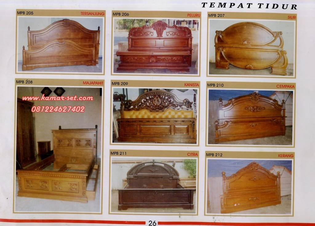 Desain Tempat Tidur Kayu Jati, Ranjang Kamar Termurah Awet ...