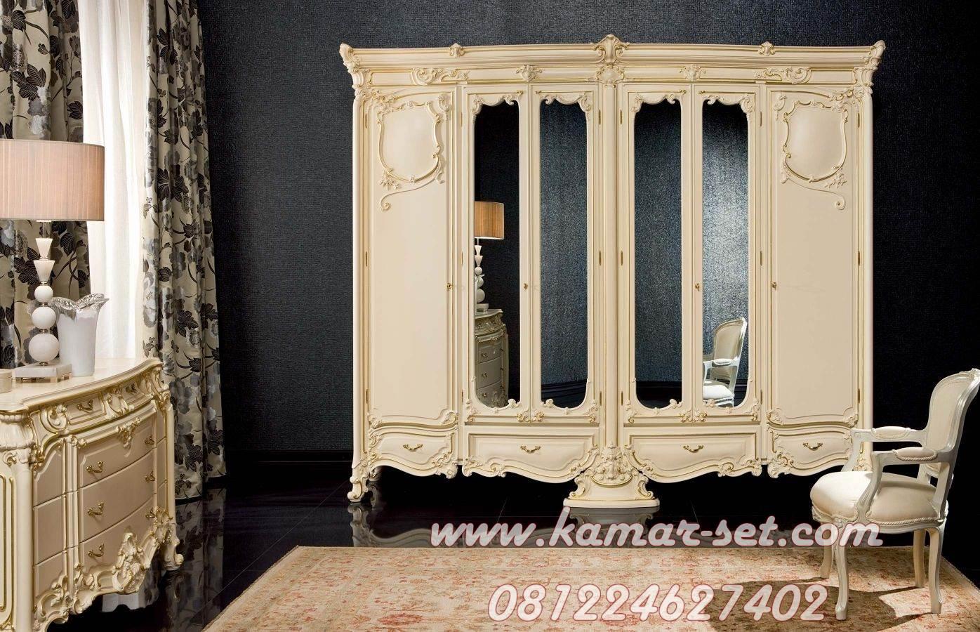 Lemari Wadrobe Klasik Pintu Kaca