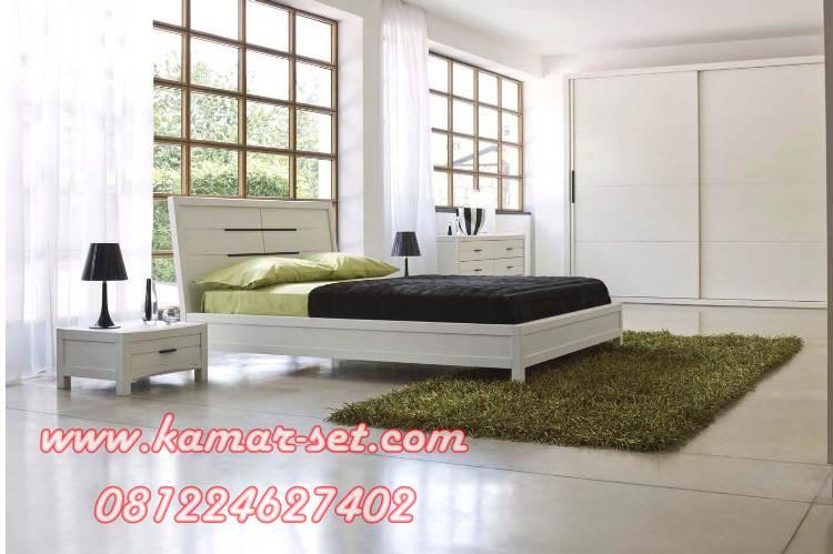 Set Kamar Tidur Minimalis With Lemari Pintu Sliding