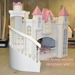 Tempat Tidur Anak Kastil Princess Snow white