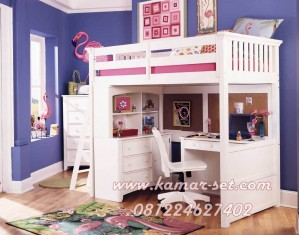 Tempat Tidur Anak PerempuanTingkat Minimalis KSTTT-109