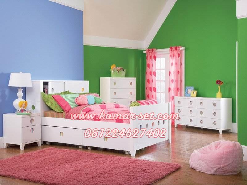Set Tempat Tidur Minimalis Anak Perempuan, Ranjang ...