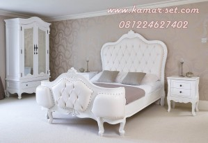 Tempat Tidur Set Putih Elegan Klasik Syahrini