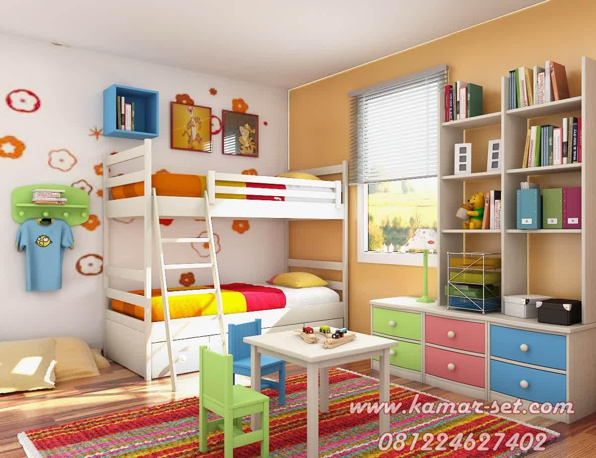 Tempat Tidur Tingkat Anak Laki Laki Minimalis KSTTT-135