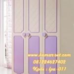 Lemari Pakaian 3 Pintu Putih Biru Tosca