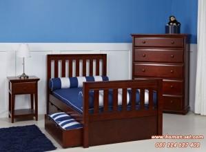 Tempat Tidur Anak Single Chestnut