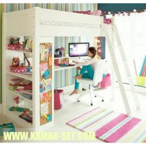 Tempat Tidur Loft Bed Minimalis Anak Perempuan