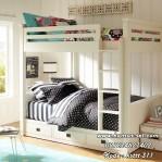 Tempat Tidur Tingkat Oxford Putih Duco Minimalis