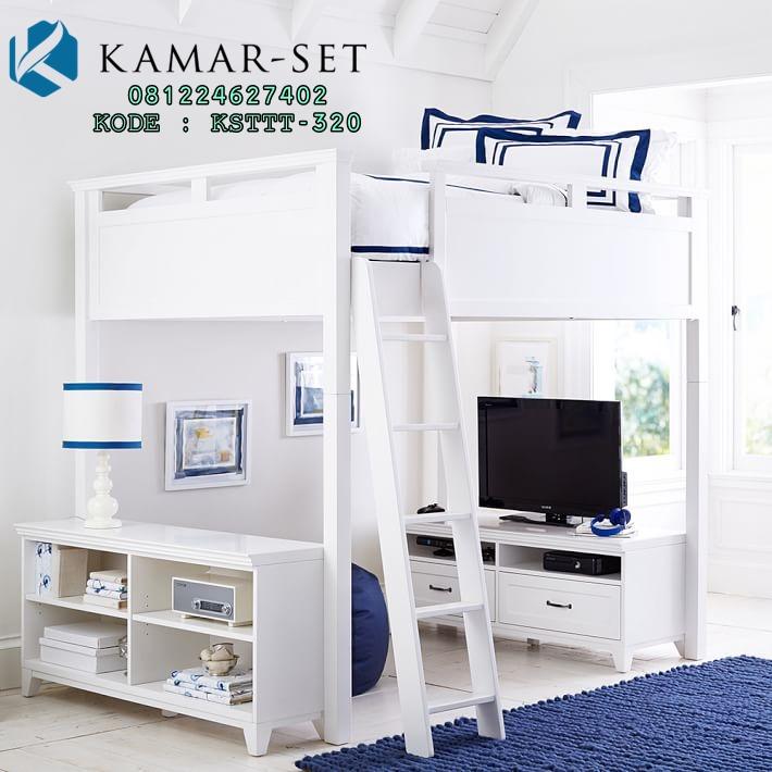 Tempat Tidur Anak Tingkat Hamton With Meja Tv