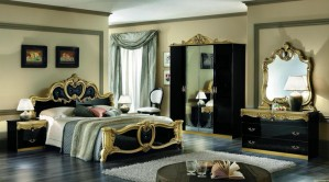 Tempat Tidur Set Terbaru lux Black Gold KSU-327