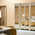 Lemari Pakaian Set Tempat Tidur Gold Beutifull Design