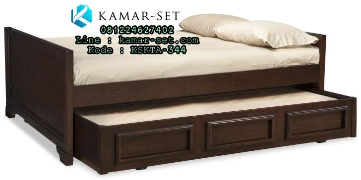 tempat tidur sorong minimalis anak laki laki kamar set