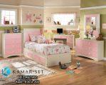 Set Kamar Tidur Anak Gadis Pink Putih Minimalis