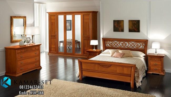 Set Tempat Tidur Klasik Minimalis Elegan KSK-366