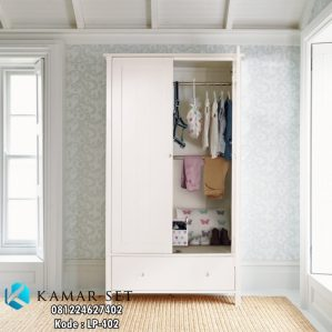 Lemari Baju Minimalis 2 Pintu Simple