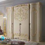 Lemari Pakaian Mewah Krem Gold LP-404
