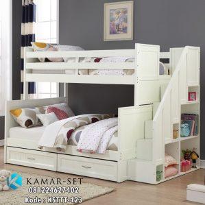 Tempat Tidur Anak Tingkat Tangga Rak Buku KSTTT-423