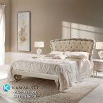 Model Tempat Tidur Gold Putih Klasik Ukir Mewah