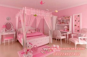 Desain Kamar Tidur Hello Kity