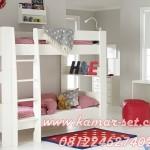 Kamar Set Tingkat Anak Perempuan Model Minimalis Putih