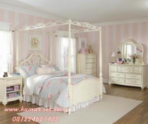 Set Kamar Tidur Anak Tiang Kanopi  Ala Princess Sofia
