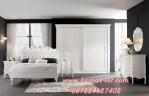 Set Kamar Tidur Mewah Terbaru Elegan Klasik Ukir Bunga Mawar
