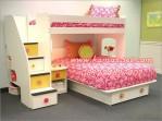 Set Kamar Tidur Tingkat Anak Perempuan Minimalis