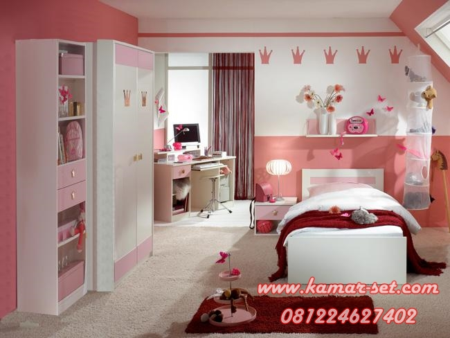 Set Ranjang Anak Minimalis Mahkota Princess