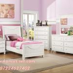 Set Tempat Tidur Anak Minimalis Putih Cantik