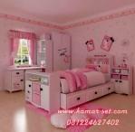 Set Tempat Tidur Hello Kity Sorong With Rak Laci