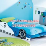 Tempat Tidur Anak Bentuk Mobil Terbaru Team Racing KSKTA-38
