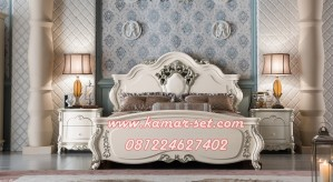 Tempat Tidur Mewah With Pearl Klasik Ukiran