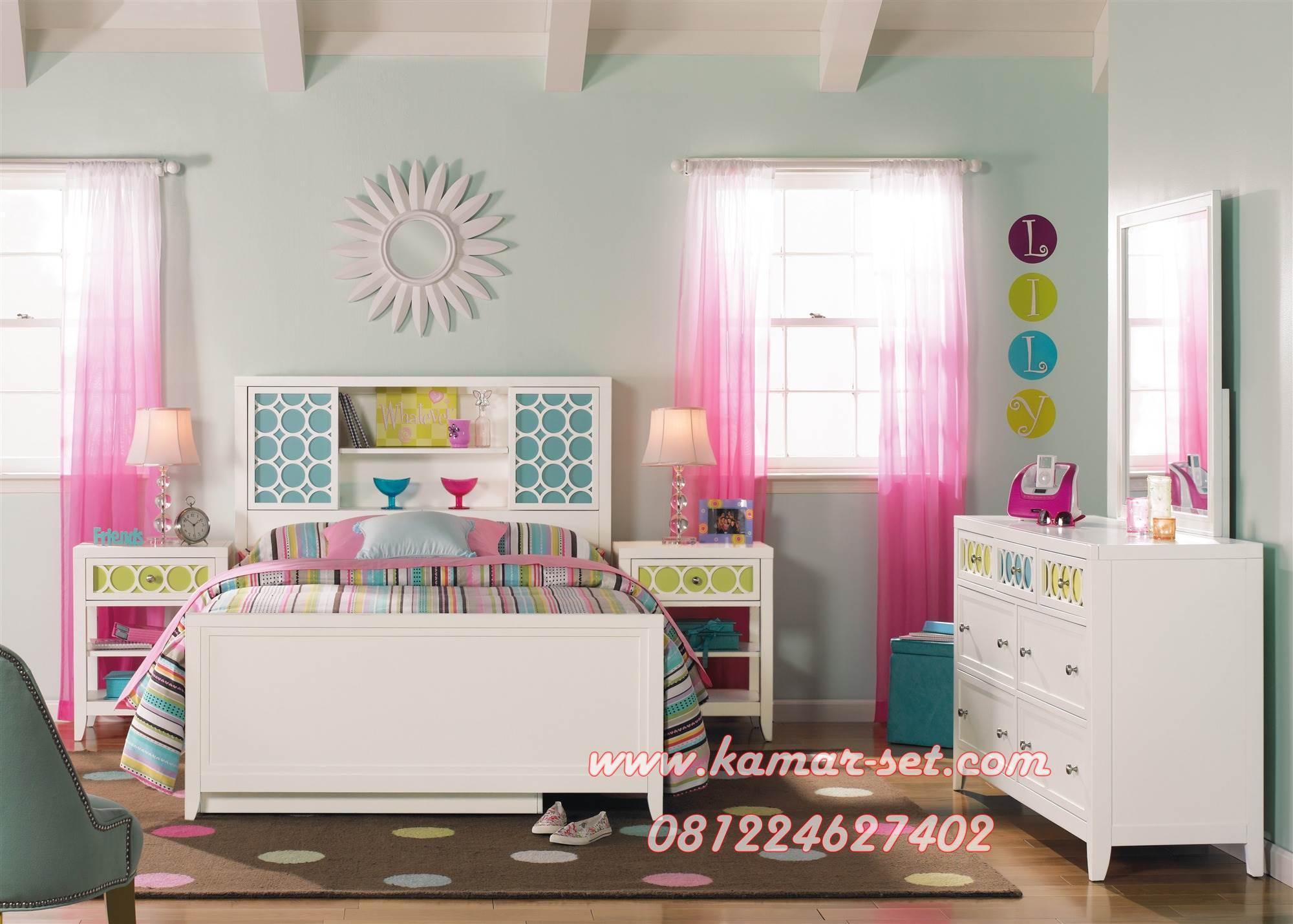 Tempat Tidur Set Anak Perempuan Minimalis Lily