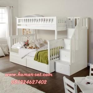Tempat Tidur Tingkat Tangga Laci KSTTT-12