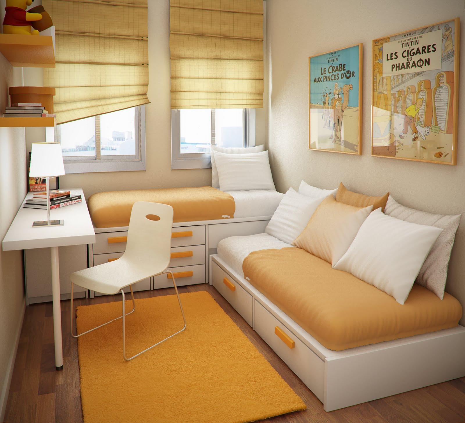 Kamar Tidur Anak 2 x 3 nuansa kuning