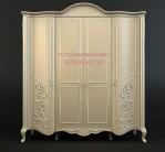 Lemari Pakaian Mewah Pintu Lengkung Model Klasik Eleganext