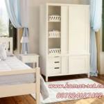 Set Kamar Anak Single Putih Minimalis Simple KSKTA-144