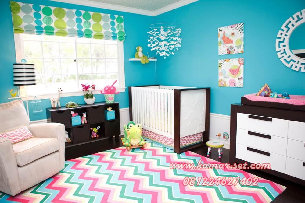 Set Kamar Tidur Bayi Ica Coklat Putih
