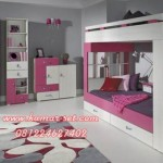 Set Tempat Tidur Tingkat lengkap Anak Perempuan
