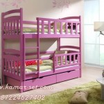 Tempat Tidur 3 Tingkat Warna Pink Murah