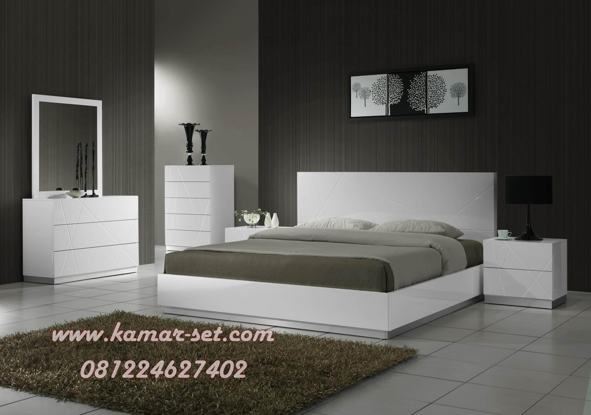 Tempat Tidur Modern Minimalis Putih Duco