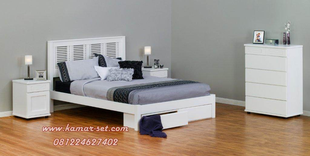 Tempat Tidur Simpel Cantik Minimalis KSR-148