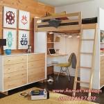 Tempat Tidur Tingkat Loft Bed Minimalis With Laci Drawer