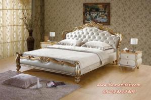 Model Set Tempat Tidur Silver Gold Sandaran Jog
